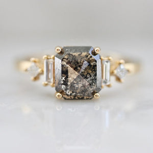 Solstice Asscher Salt & Pepper Rose Cut Diamond Ring