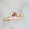 Haven Morganite Solitaire Ring in Yellow Gold