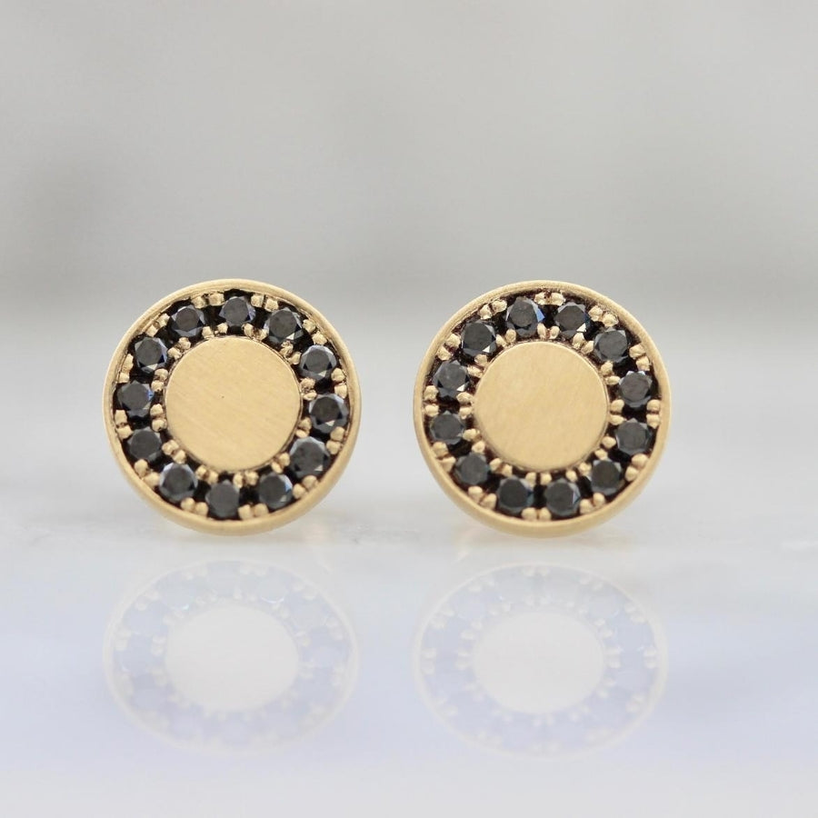 Bisous Black Diamond Earrings