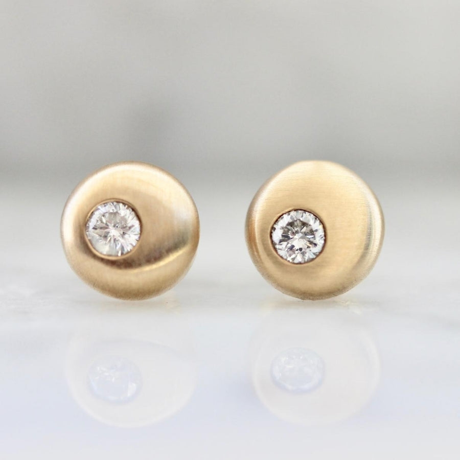 Mignon White Diamond Earrings