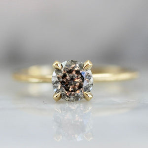 Stella Salt & Pepper Diamond Ring in Yellow Gold