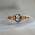 Calais Salt and Pepper Hexagon Rose Cut Diamond Ring