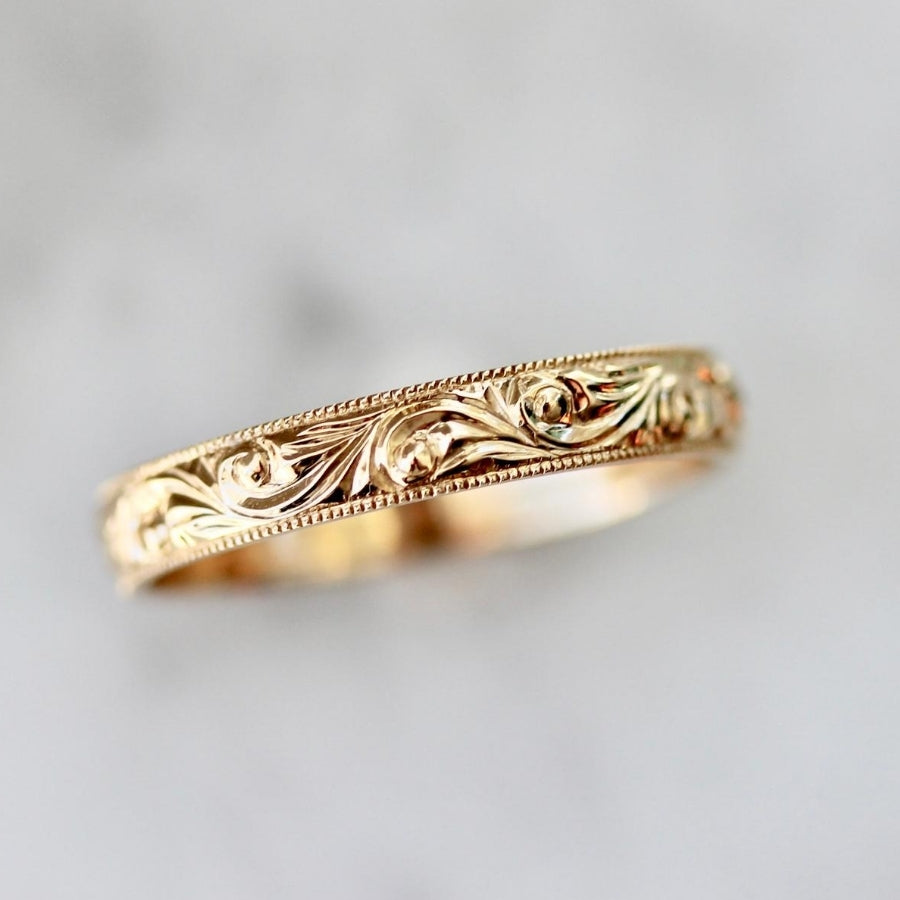 Rosaline Engraved Band