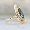 Samira Pear Cut Salt and Pepper Ring in Yellow Gold