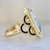Leighton Salt and Pepper Rectangular Cut Diamond Ring in Yellow Gold