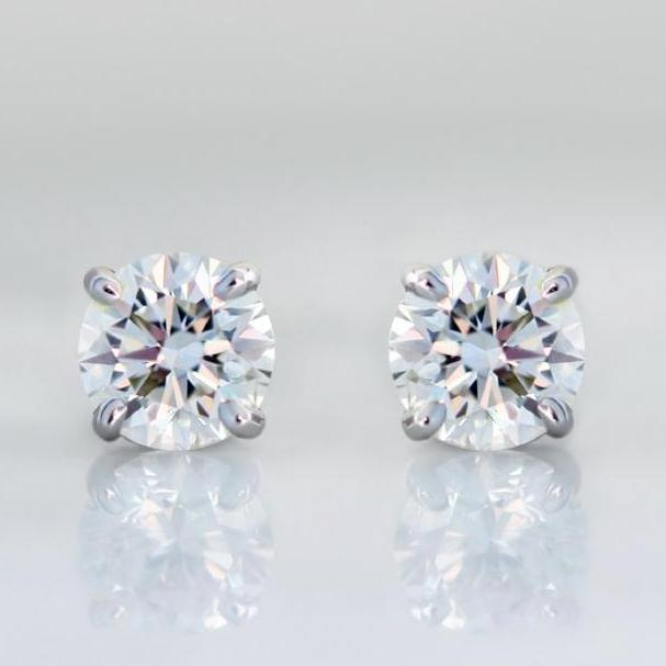 .48 Carats Total Round Cut Diamond Earrings