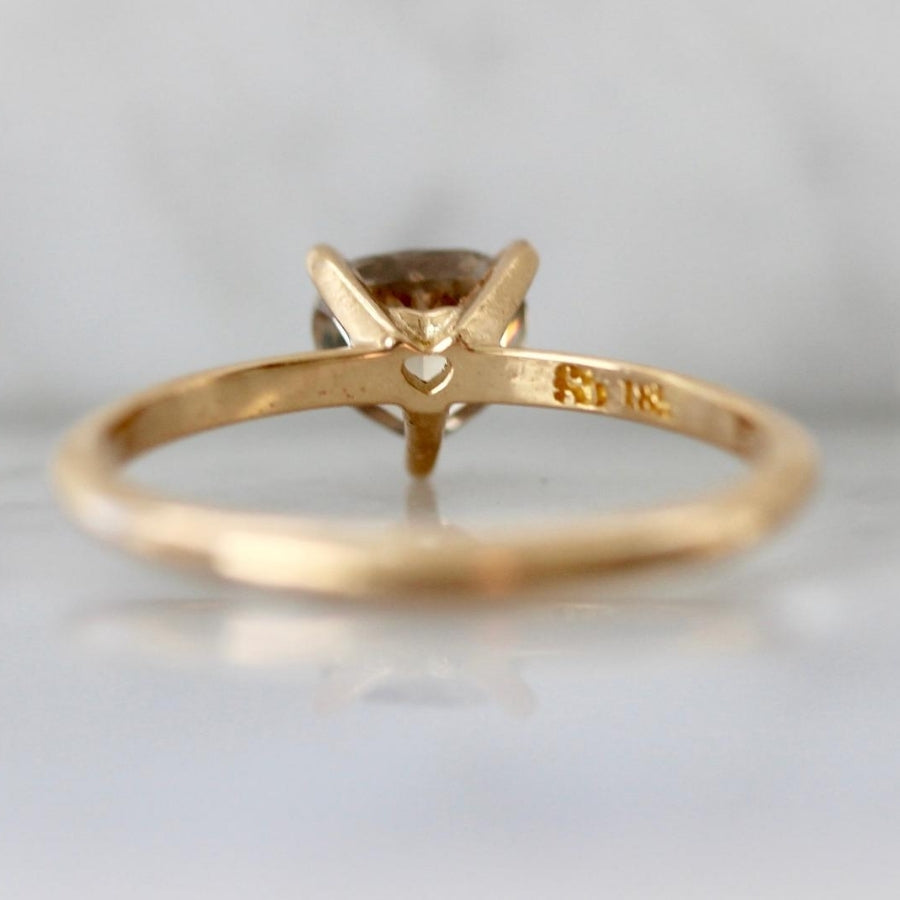 Moet Champagne Brown Heart Cut Diamond Ring in Peach Gold®