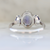 Vienna Three Stone Tanzanite Ring