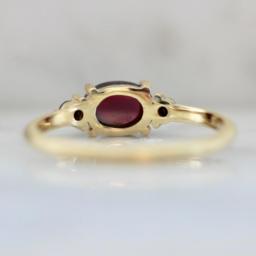 Malina Raspberry Garnet Ring
