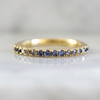 Summer Sunsets Ombre Half Eternity Montana Sapphire and Diamond Band