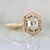 Renata Hexagonal Step Rose Cut Diamond Ring in Yellow Gold