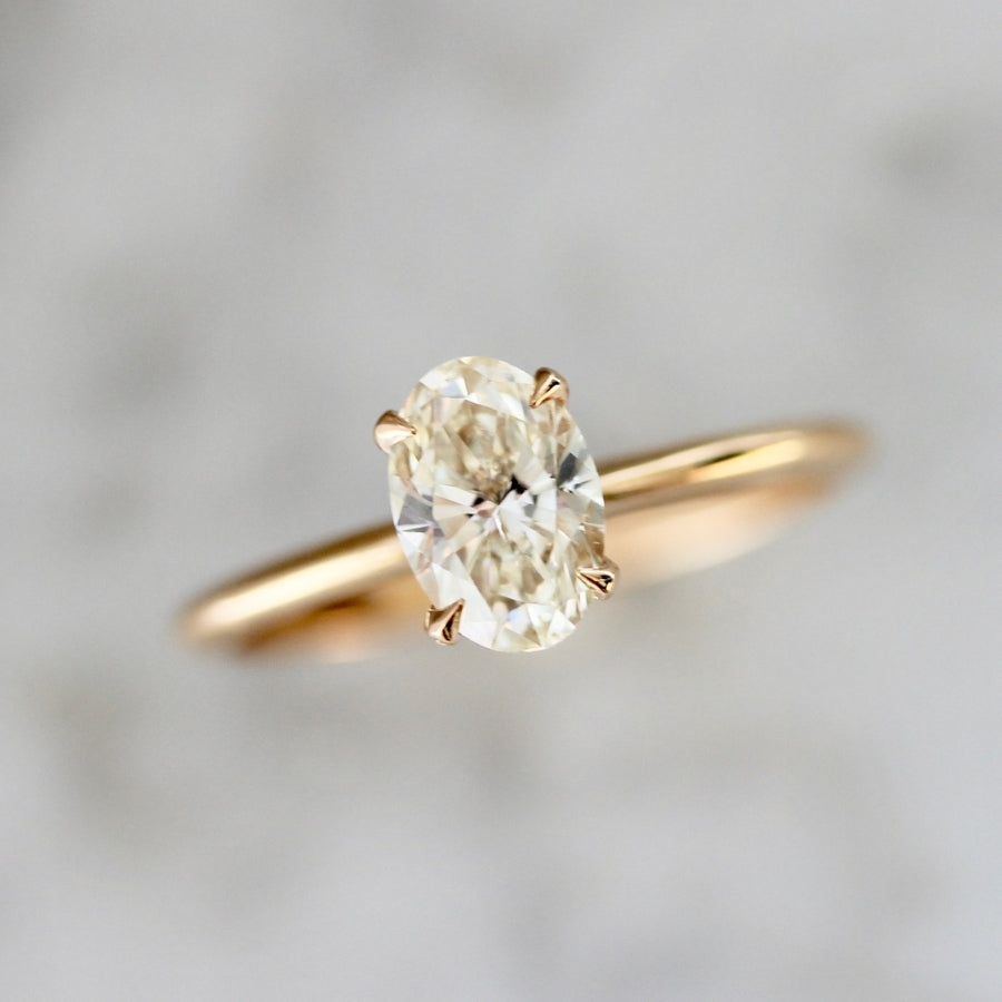 Reims Champagne Oval Cut Diamond Ring