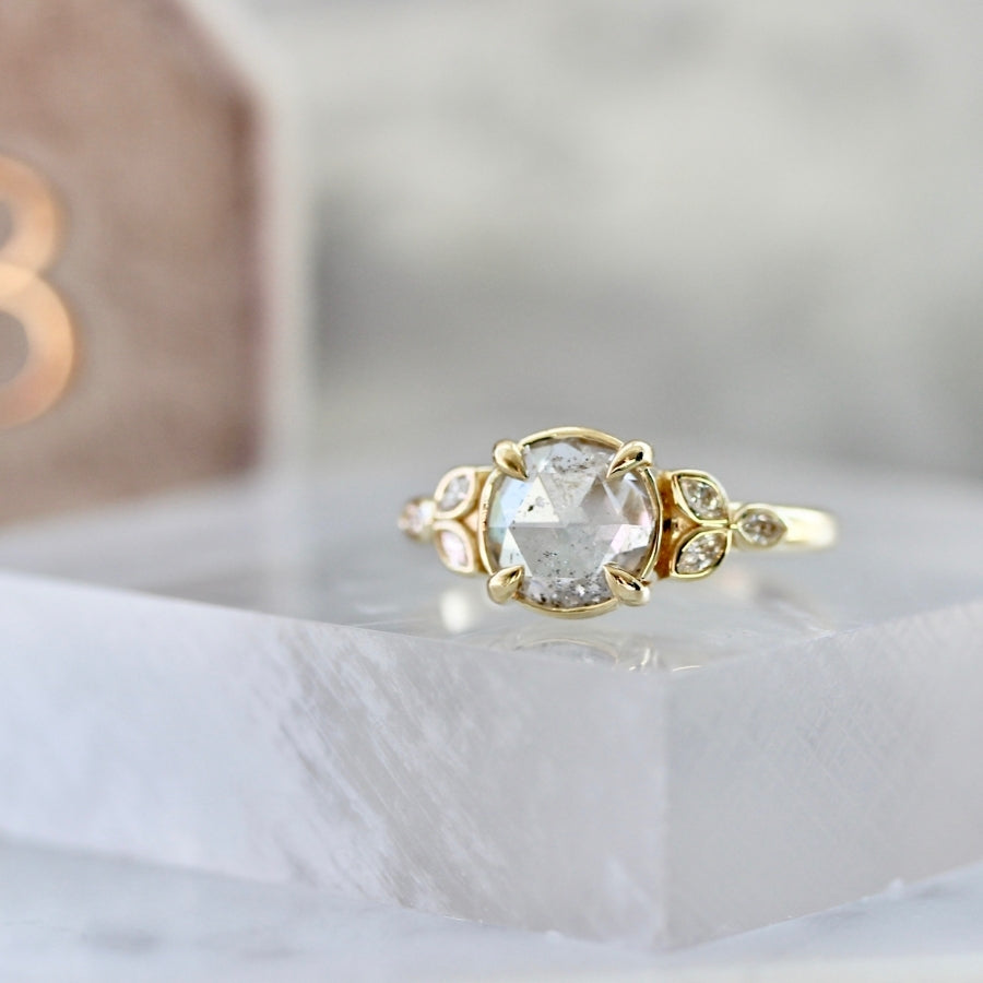 Aisling Round Rose Cut Diamond Ring