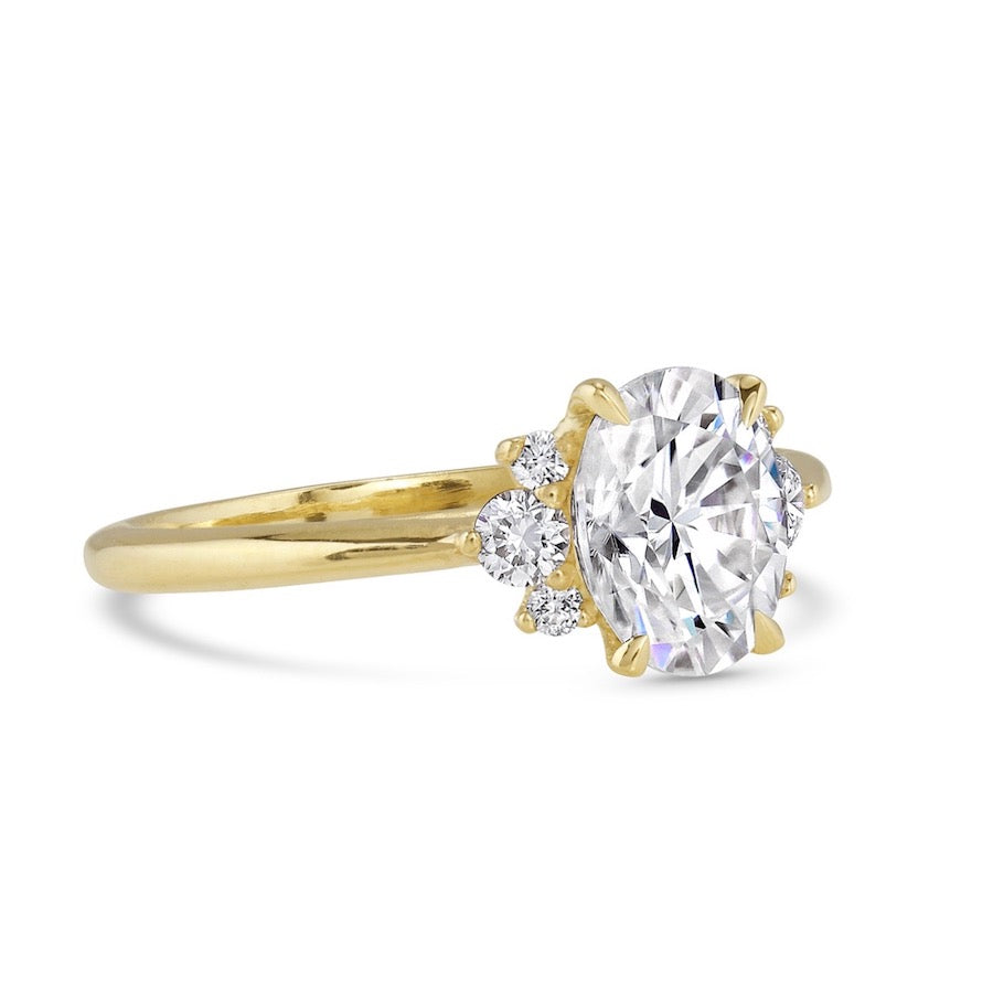 Create Your Own | Mirella Half-Halo Diamond Ring