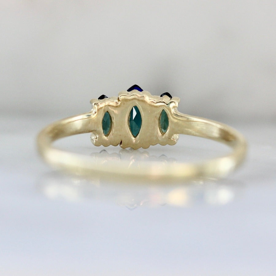 Sedona Summer Teal Marquise Cut Tourmaline Ring