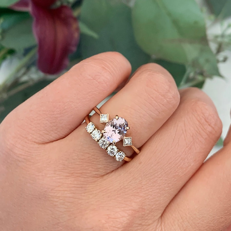 Vivienne Pale Pink Oval Cut Spinel Ring