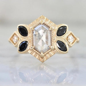 Cloudbreaker Hexagon Cut Diamond Ring