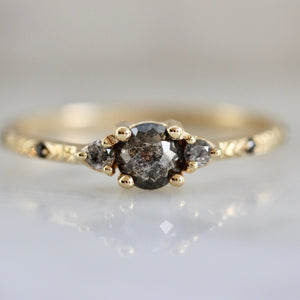 Rowan Charcoal Rose Cut Diamond Ring