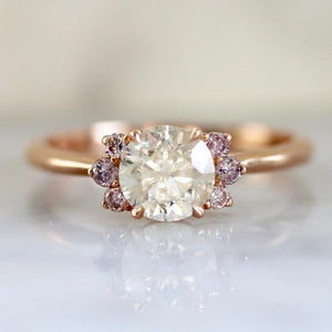 Mirella Icey Diamond Ring in Rose Gold
