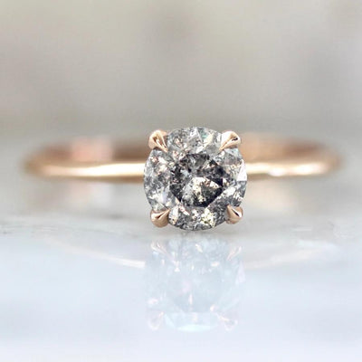 Stella Salt & Pepper Diamond Ring in Rose Gold