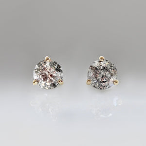 1.00 Carat Total Salt and Pepper Diamond Studs