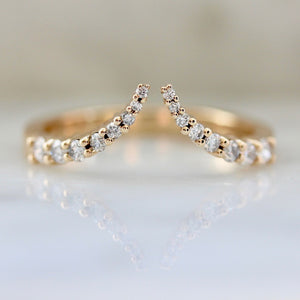 Pointed Open Cuff Diamond Ring