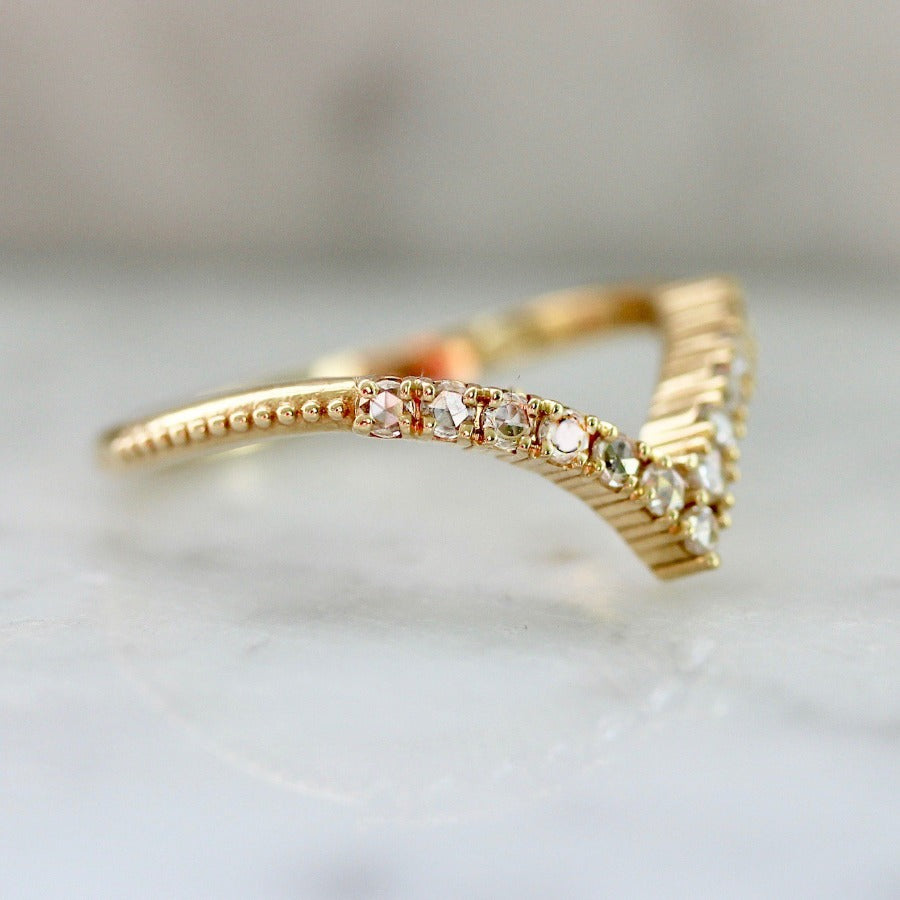 Eden Rose Cut Stacking Diamond Ring