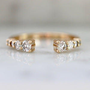 Straight Open Cuff Diamond Ring