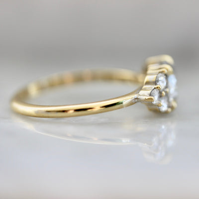 Mystic Mama Grey Diamond Ring in Yellow Gold
