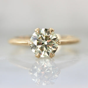 Kissing Sunlight Round Cut Diamond Ring