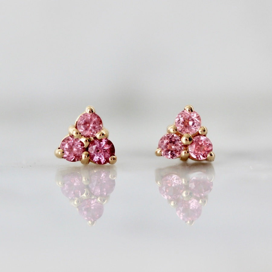 Pink Spinel Earrings