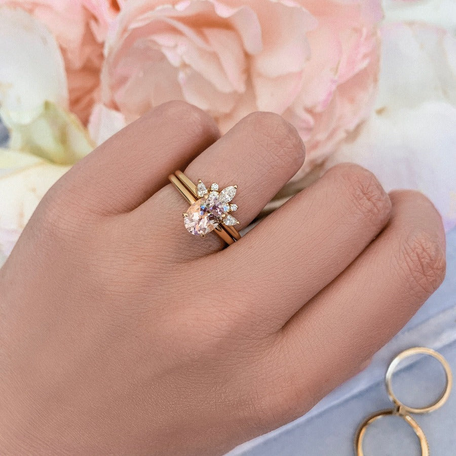 Haven Pale Pink Oval Cut Morganite Ring