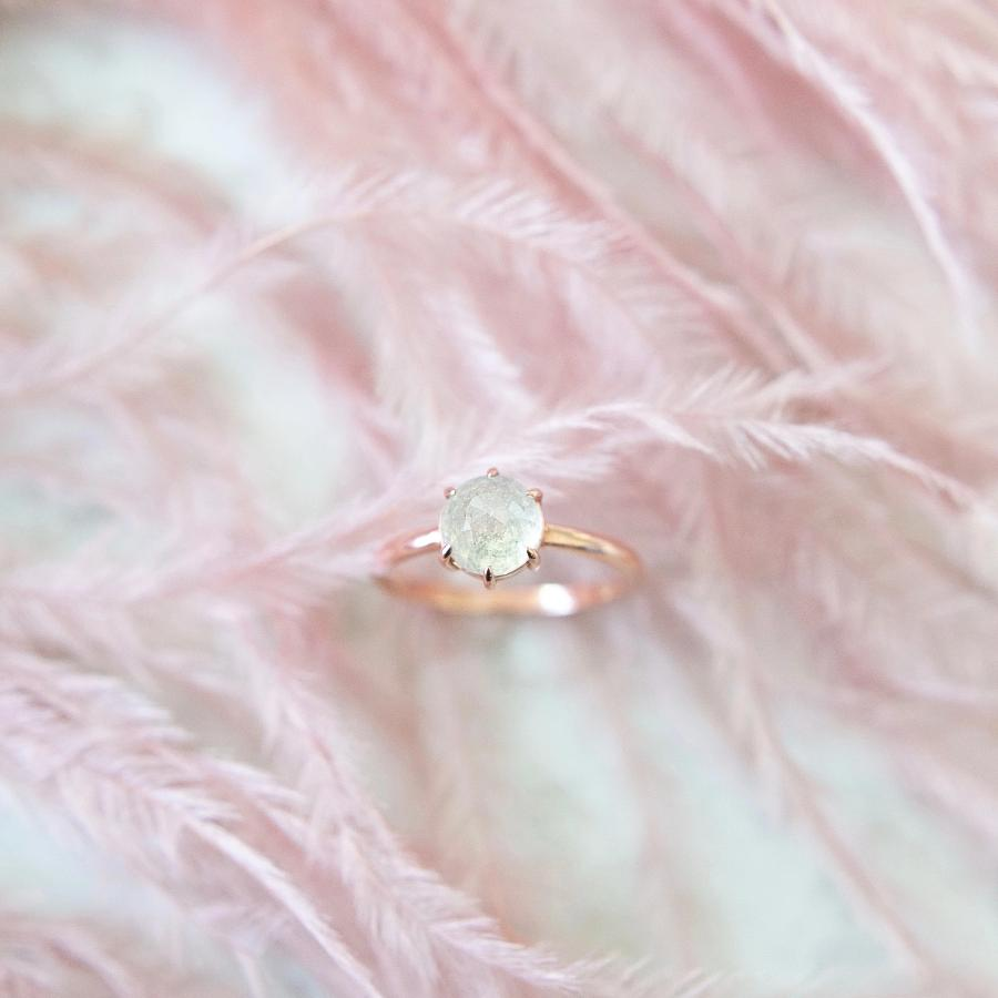 Harmonia Icey Round Rose Cut Diamond Ring