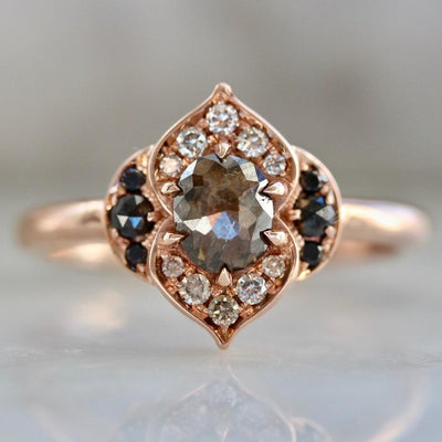 Aimee Kennedy Ring Current Ring Size 6.75 Dahlia Diamond Rose Gold Diamond Ring