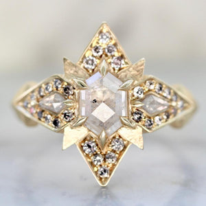 Aimee Kennedy Ring Current Ring Size 7.25 Katniss Hexy Diamond Ring