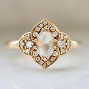 Aimee Kennedy Ring Delilah Curvy Rose Cut Diamond Ring