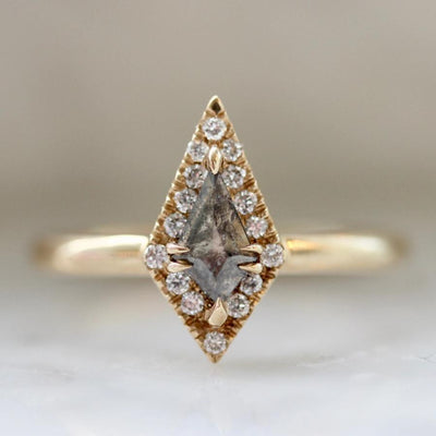 Aimee Kennedy Ring Elysia Grey Rose Cut Diamond Ring