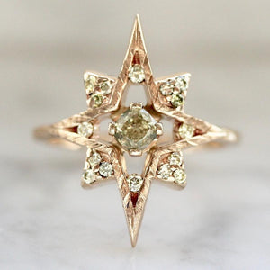 Alexandra Marie Ring Astra Yellow Diamond Ring