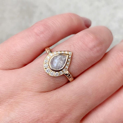 Army Of Rokosz Ring Gemma Pear Cut Diamond Ring