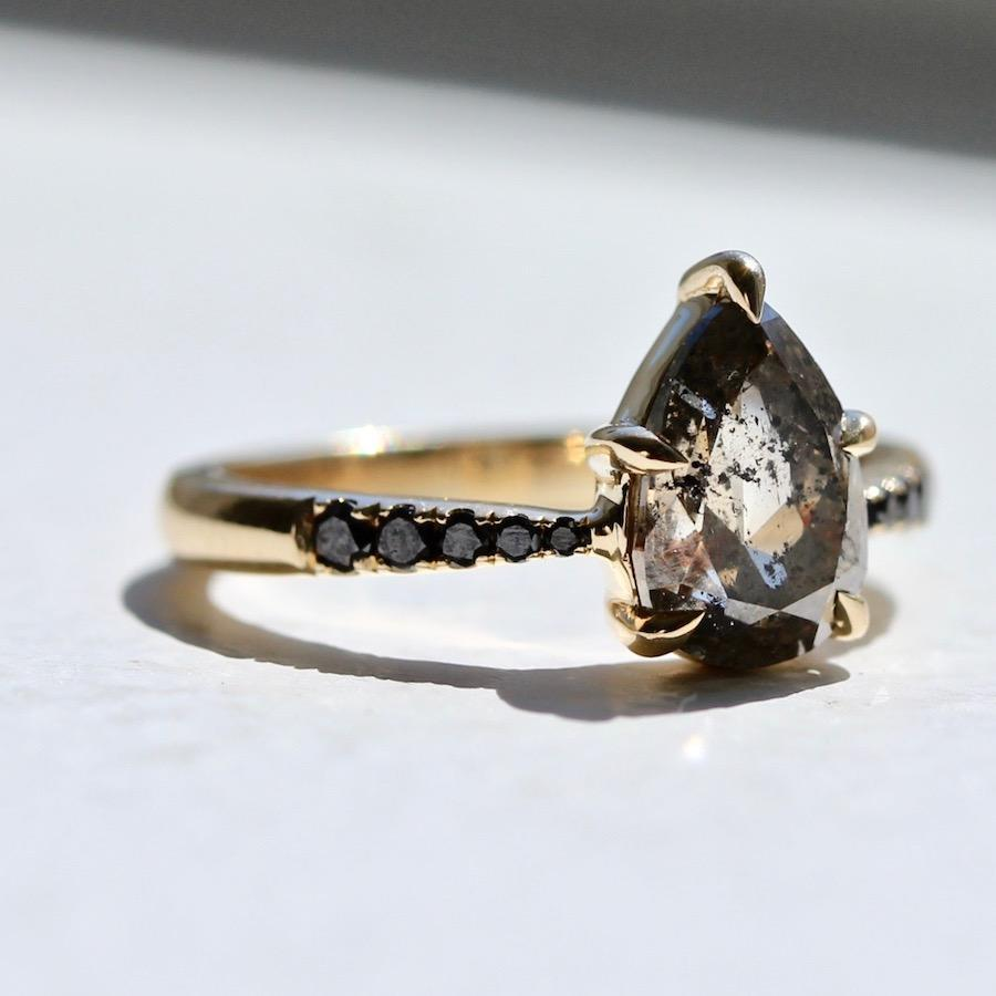 Attic Gold Ring Dreamland Champagne Pear Cut Diamond Ring