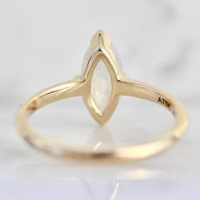 Attic Gold Ring Unicorn Dreams Marquise Cut Diamond Ring