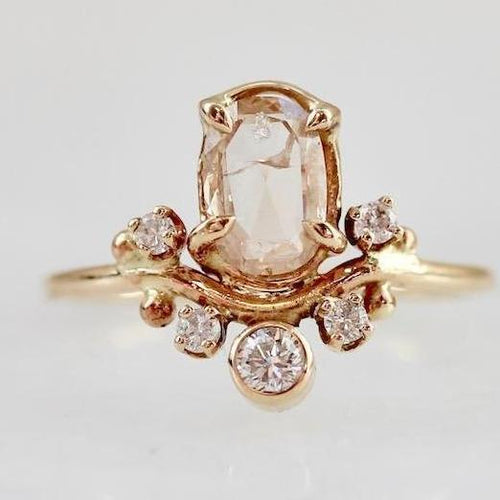 Bread and Circus Ring Bread and Circus Champagne Oval Rose Cut Diamond Ring