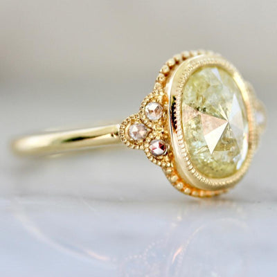 Emily Gill Ring Current Ring Size 6.75 Candy Money Yellow Diamond Ring