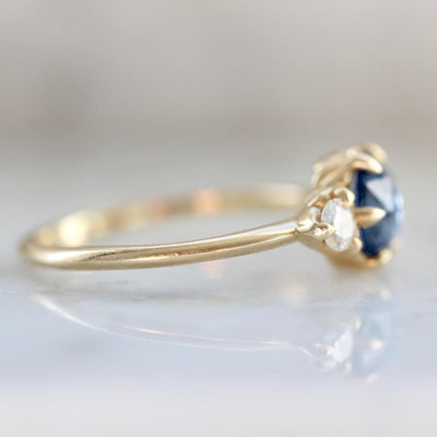 Emily Gill Ring Current Ring Size 6.75 Cici Blue Sapphire & Diamond Ring