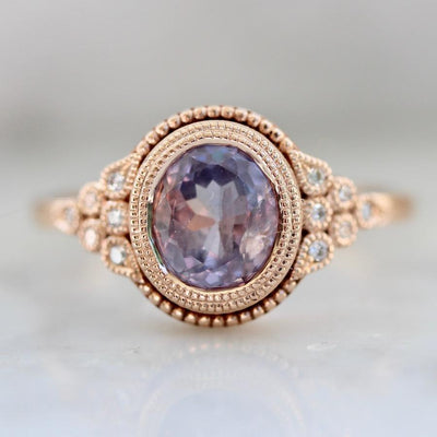 Emily Gill Ring Harmony Parti-Purple Sapphire Rose Gold Ring