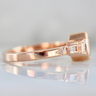 Emily Gill Ring Hazel Salt & Pepper Rose Gold Diamond Ring