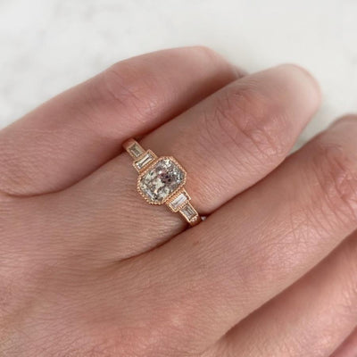 Hazel Salt & Pepper Rose Gold Diamond Ring