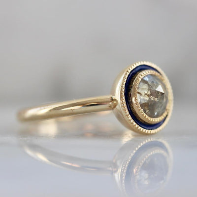Emily Gill Ring Kelly Enamel Diamond Ring