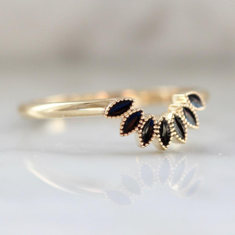 Emily Gill Ring Black Enamel Stacking Ring
