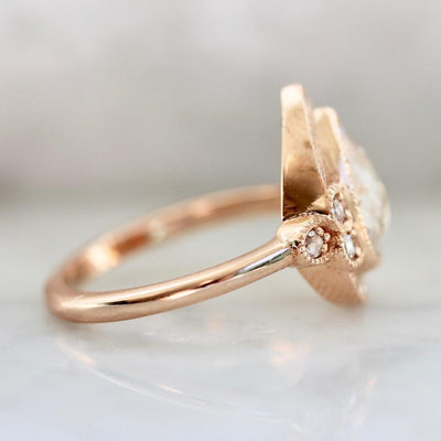 Emily Gill Ring Rare Feelings Champagne Diamond & Rose Gold Goddess Ring